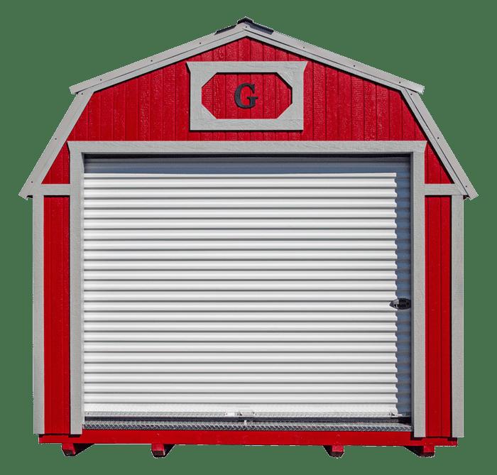 Lofted Barn Garage Front