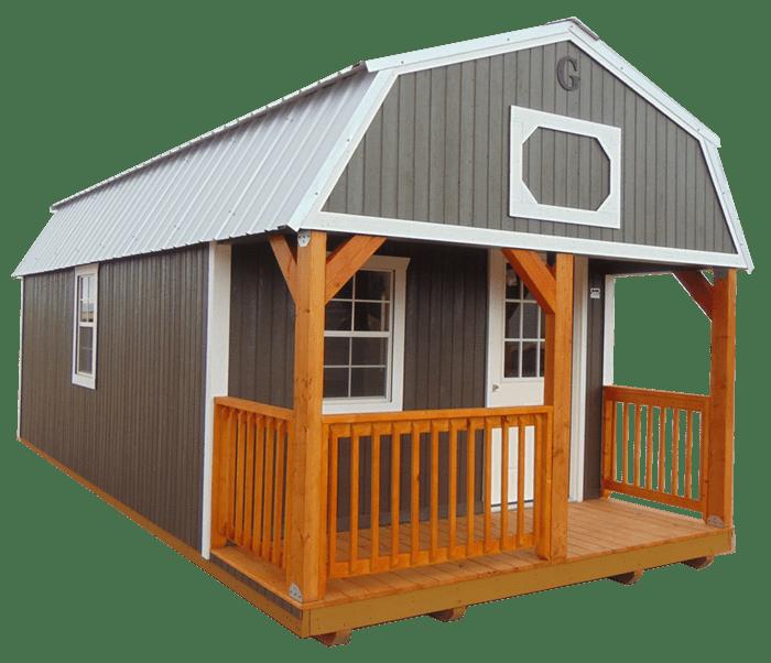 Corner Porch Lofted Barn Cabin